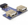 USB aljzat 2xUSB A(F) Delock 41824