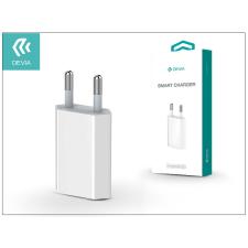 USB hálózati töltő adapter - Devia Smart Charger - 5V/1A - white tablet tok