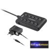 USB hub switch, 10 portos,