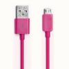 USB -> microUSB adatkábel rózsaszín sötét
