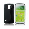 utángyártott Samsung Galaxy S5 szilikon tok S-line, fekete