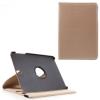 utángyártott Samsung Galaxy Tab S3 9.7 LTE (SM-T825) - Tok álló, bõr (FLIP, asztali tartó funkció, 360°-ban forgatható) ARANY