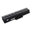 utángyártott Sony Vaio VGN-FW50B, VGN-FW51B fekete Laptop akkumulátor - 4400mAh