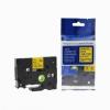Utángyártott szalag Brother HSe-631 11,7mm x 1,5m, fekete nyomtatás / sárga alapon