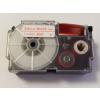 Utángyártott szalag Casio XR-24WER 24mm x 8m piros nyomtatás / fehér alapon