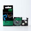Utángyártott szalag Casio XR-6GN1, 6mm x 8m fekete nyomtatás / zöld alapon