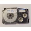 Utángyártott szalag Casio XR-6WEB 6mm x 8m kék nyomtatás / fehér alapon