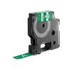 Utángyártott szalag Dymo 1805414, Rhino, 12mm x 5,5m fehér nyomtatás / zöld alapon, vinyl