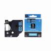 Utángyártott szalag Dymo 40916, S0720710, 9mm x 7m fekete nyomtatás / kék alapon