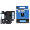 Utángyártott szalag Dymo 43610, S0720770, 6mm x 7m fekete nyomtatás / átlátszó alapon