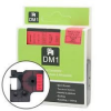 Utángyártott szalag Dymo 43617, 6mm x 7m fekete nyomtatás / piros alapon