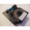 Utángyártott szalag Dymo 53711, 24mm x 7m kék nyomtatás / átlátszó alapon