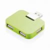 Utazós fekete USB elosztó, zöld