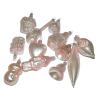 Üvegkarácsonyfadíszek Flamingó 12db figura