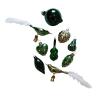 Üvegkarácsonyfadíszek Forest 12db figura