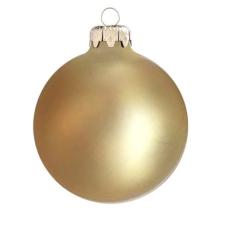 Üvegkarácsonyfadíszek Matt pezsgő gömb 8cm-es 6db karácsonyi dekoráció
