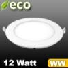 V-tac ECO LED panel (kör alakú) 12W - meleg fehér
