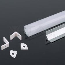 V-tac Led Alumínium profil tejfehér 2000 x 15.8 x 15.8mm sarok - 3353 világítás