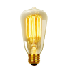 V-tac LED lámpa , égő , Edison izzószálas hatás , körte , E27 foglalat , 4 Watt , borostyán sárga