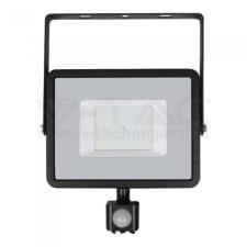 V-tac Led mozgásérzékelős reflektor 50W SAMSUNG chip - fekete - 3000K - 469 kültéri világítás