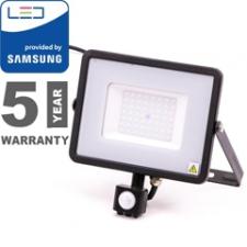 V-tac Mozgásérzékelős PRO-B LED reflektor (50W/100°) meleg fehér világítás