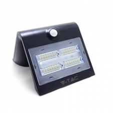 V-tac Napelemes oldalfali lámpa (fekete) 3W 3000+4000K elemlámpa
