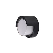V-tac Oldalfali dekor lámpatest - fekete - kör (7W/400Lumen) meleg fehér kültéri világítás