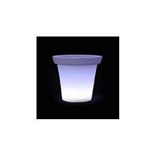 V-tac RGB világító kerti dekoráció - akkumulátoros, cserép, fehér villanyszerelés