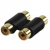 Valueline AC-027GOLD Stereo Audio Adapter 2x RCA Female - 2x RCA Female Black