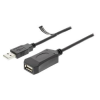 Valueline Active USB 2.0 Extension Cable A Male - A Female 10,00 m Black