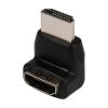 Valueline HDMI™ adapter, HDMI™ csatlakozó, 270°-os - HDMI™ bemenet, fekete