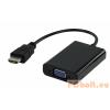 Valueline HDMI M - D-Sub(15) F Adapterkábel 0.2m Fekete