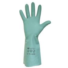 . Védőkesztyű, akrilonitril, 7-es méret, zöld védőkesztyű