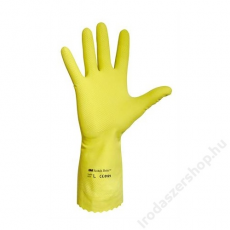 Védőkesztyű, latex, 9-es méret, sárga (ME701)