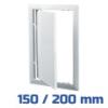 VENTS ellenőrző ablak, műanyag, fehér (150/200 mm)