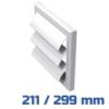 VENTS gravitációs zsalu, fehér alap kivitel (211/299 mm)
