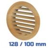 VENTS szellőzőrács, bútorrács bükk rovarhálós (128/100 mm)