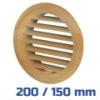VENTS szellőzőrács, bútorrács bükk rovarhálós (200/150 mm)