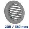 VENTS szellőzőrács, bútorrács szürke rovarhálós (200/150 mm)
