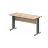 Vénusz irodabútor AVA fémlábas íróasztalok EK-160/62-AVA Egy oldalon kerekített íróasztal AVA fémlábbal 160X 62 cm-es méretben