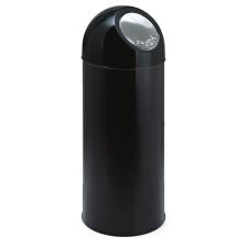 VEPA BINS Nyomófedeles szemetes, 55 l, fém, VEPA BINS, fekete szemetes