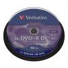 Verbatim DVD+R 8,5GB 8X DOUBLE LAYER CAKE*10 43666