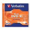Verbatim DVD-R lemez, 8 cm, 1,4GB, 4x, normál tok, VERBATIM