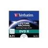 Verbatim DVD R lemez, archiváló, nyomtatható, M-DISC, 4,7 GB, 4x, normál tok, VERBATIM