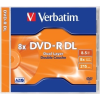 "Verbatim DVD-R lemez, kétrétegű, 8,5GB, 8x, normál tok, VERBATIM ""Dual Layer"""