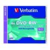 Verbatim DVD-RW 4,7 GB, 4x, újraírható, normál tokban