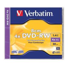 Verbatim DVD+RW lemez, 8 cm, újraírható, 1,4GB, 4x, normál tok, VERBATIM írható és újraírható média