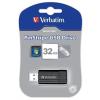 """Verbatim Pendrive, 32GB, USB 2.0, 10/4MB/sec, VERBATIM """"PinStripe"""", fekete"""