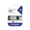 "Verbatim Pendrive, 32GB, USB 3.0, 100/35MB/sec, PC & MAC, GDPR, VERBATIM ""SECURE DATA PRO"", szürke"