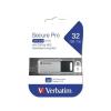 """Verbatim Pendrive, 32GB, USB 3.0, 100/35MB/sec, PC & MAC, GDPR, """"SECURE DATA PRO"""", szürke"""